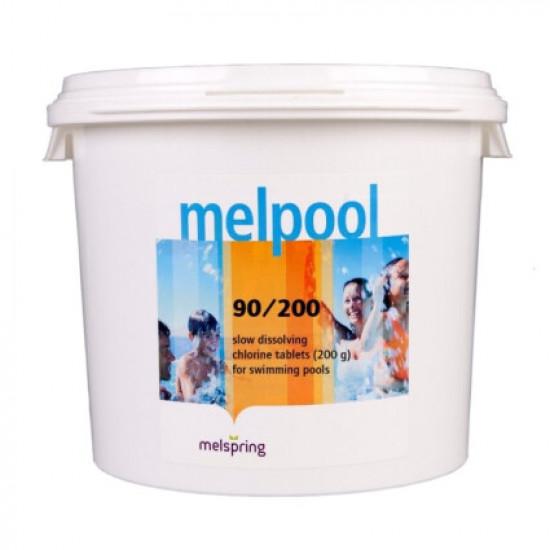 Дезинфектант для бассейна на основе хлора Melpool 90/200 1 кг.