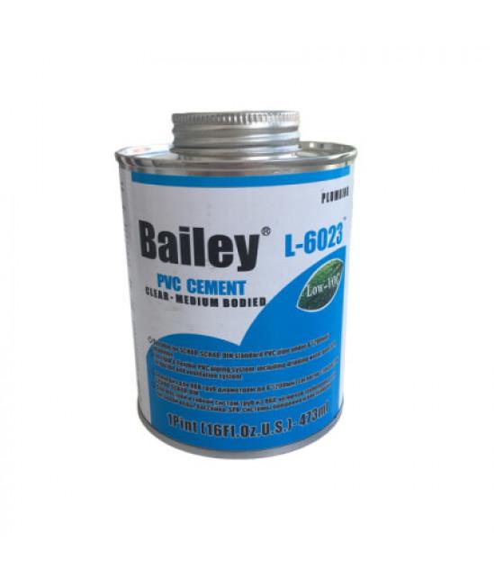 Клей для труб ПВХ Bailey L-6023 473 мл