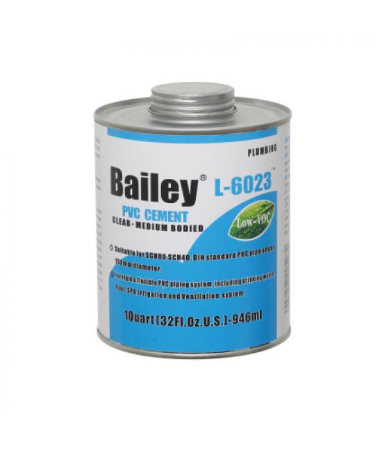 Клей для труб ПВХ Bailey L-6023 946 мл