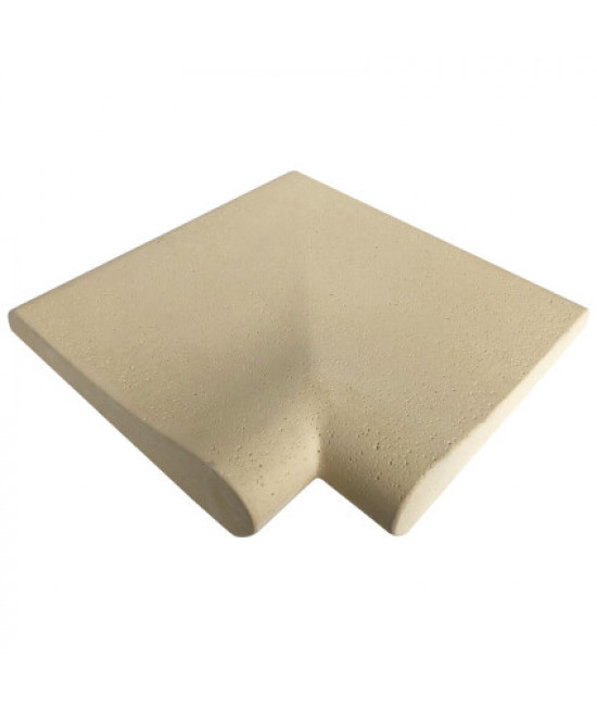 Внешний угловой копинговый камень Carobbio Rustic, микроперфорированная поверхность, песочный