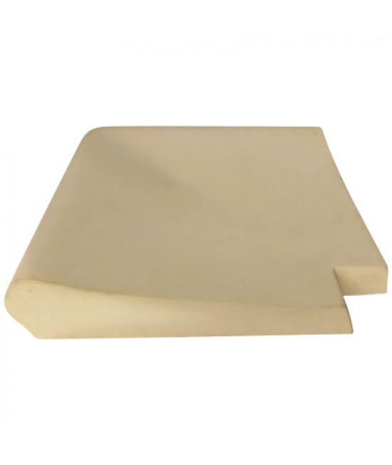 Внешний прямой угловой копинговый камень Carobbio Standard гладкий, 370x370 мм (песочный)