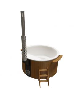 Купель круглая PolarSpa Элит KFE220TP Термососна, интегрированная дровяная печь