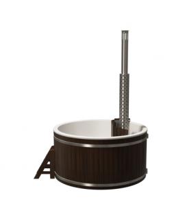 Купель круглая PolarSpa Премиум KFP220ТУ Термоясень, внутренняя дровяная печь