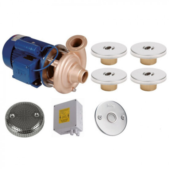 Гидромассаж Fitstar Standard 8697120 (220 В, 1,5 Квт) компл: насос, блок упр., 4 форсунки, 1 водозабор, пьезокнопка
