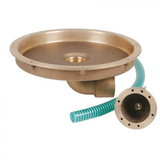 Закладная Fitstar 8500050 для гейзера 8530020 и пневмокнопки , выход 90°, Ø 344 мм