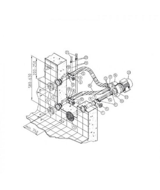 Гидромассаж Fitstar Combi-Whirl 8615020 (220/380 В, 2.6 Квт) компл: насос, 2 форсунки