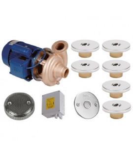 Гидромассаж Fitstar Standard 8697220 (220 В, 1.5 Квт) компл: насос, блок упр., 6 форсунки, 1 водозабор, пьезокнопка