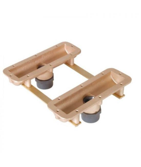 Закладной короб Fitstar 8795250 air-bubble, для сиденья 8791020, 240 мм, выходы 63 мм