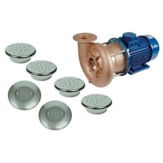 Гидромассаж Fitstar Combi-Whirl 8610020 (220/380 В, 5,5 Квт) компл: насос, 4 форсунки, 2 водозабора