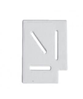 Угловой элемент Classic и Grift для переливной решетки 90° 150/25 мм (белый)