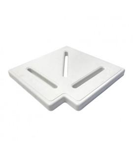 Угловой элемент для переливной решетки Aquaviva Classik и Grift 90° 295*25мм