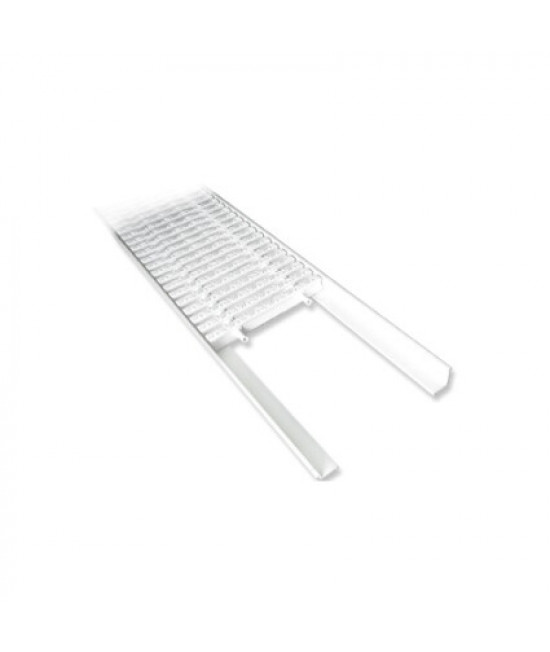 L профиль AquaViva PP для переливной решетки 2м х 25 мм