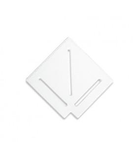 Угловой элемент AquaViva DK-20-1 Matt для переливной решетки 90° 195/25 мм (белый)