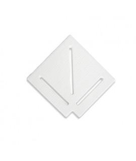 Угловой элемент AquaViva KK-25-1 Classic для переливной решетки 90° 245/25 мм (белый)