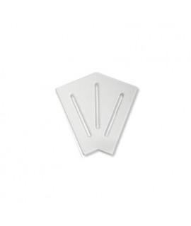 Угловой элемент AquaViva KK-15-2 Classic для переливной решетки 45° 145/25 мм (белый)