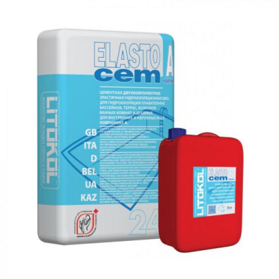 Гидроизоляция ELASTOCEM (А+B) сухой компонент A (мешок) 24 кг