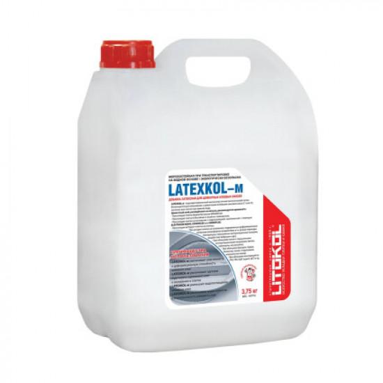 Добавка к клею латексная LATEXKOL-м белая (канистра) 3,75 кг