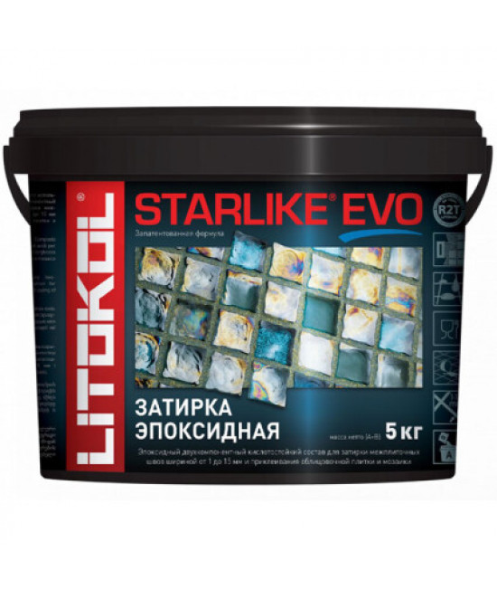 Затирочная смесь Litokol STARLIKE EVO Blue Zaffiro S.350 (синяя), 5 кг
