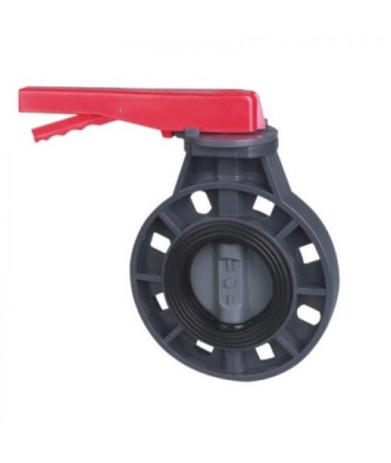 Дисковый затвор ПВХ общего применения 90 мм (без фланцев)