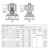 Клапан соленоидный Aquaviva 2W31 (DN25-G1) d32 мм